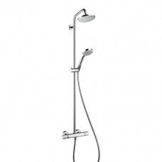 Hansgrohe Dušas sistēma ar termostatu Croma 160 1jet/Croma 100 Vario, hroms