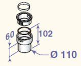 Adapteris lokanam dūmvadam D110, DY905