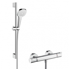 Hansgrohe Dušas komplekts ar dušas termostatu Ecostat Comfort/Croma Select E Vario Combi, 650 mm, balts/hroms