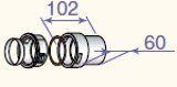 Adapteris lokanam dūmvadam D80, DY904