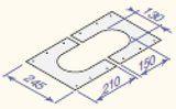 Dūmvada iekštelpu nosēgplāksne D150, CX115