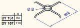 Centrēšanas zvaigznes šahtā D110 (2 gab.), DY187