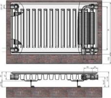 Radiators 11x500x500 Ventil Compact Termolux