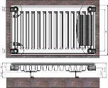Radiators 11x500x700 sānu piesl. Termolux