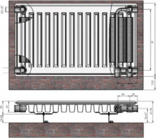 Radiators 11x500x700 Ventil Compact Termolux