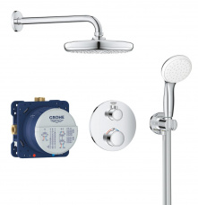 Grohe Iebūvējamais dušas termostata komplekts Grohetherm Perfect/Tempesta 210, hroms